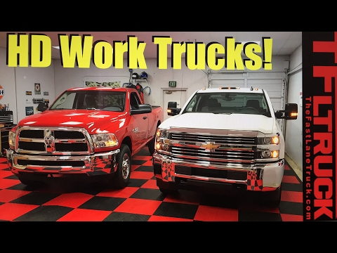 2017 Ram HD and Chevy HD Work Truck Compared