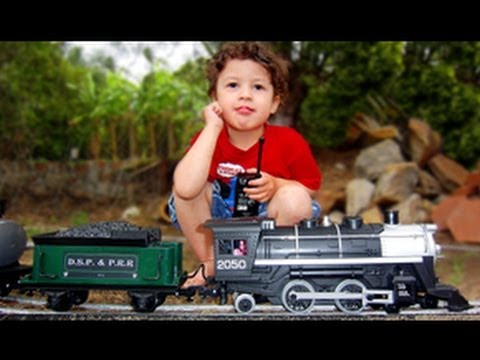 Modelling Railway Train Track Plans -G Scale Black Canyon Express Outdoors & Newquida Track Run
