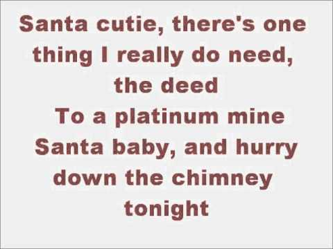 Glee Santa Baby with lyrics