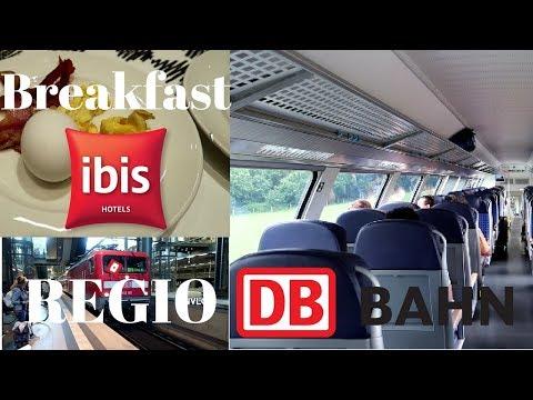 Breakfast Hotel Ibis Berlin Hauptbahnhof - Train Regio DB Deutsche Bahn Berlin to Rostock