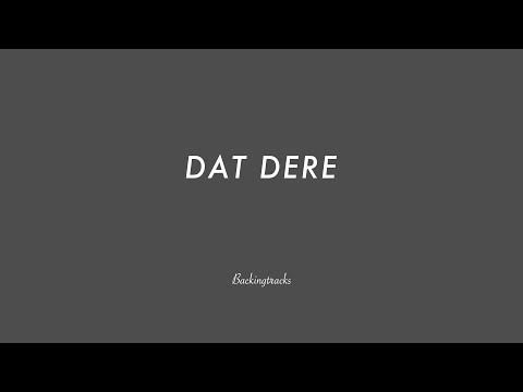 DAT DERE chord progression - Backing Track (no piano)