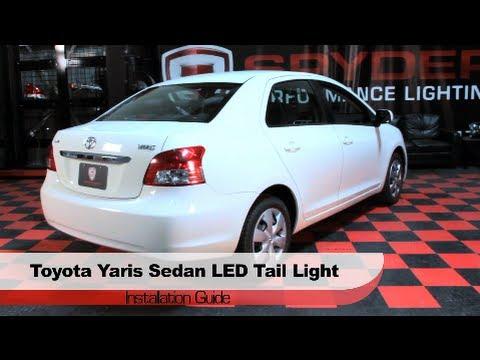 Spyder Auto Installation 2007-09 Toyota Yaris 4-door Sedan LED Tail