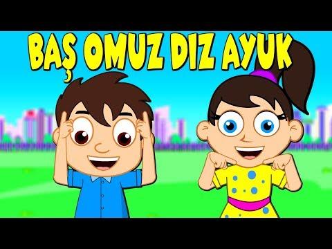 Baş Omuz Diz Ayak | Türkçe Head Shoulders Knees And Toes | Çizgi Film Bebek Şarkıları | Balon TV