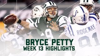 Every Bryce Petty Pass Attempt | Colts vs. Jets | NFL Week 13 Player Highlights