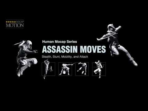 iClone Human Mocap - Assassin Moves