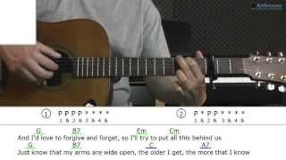 How to play This Boy with James Morrison (Guitar lesson)