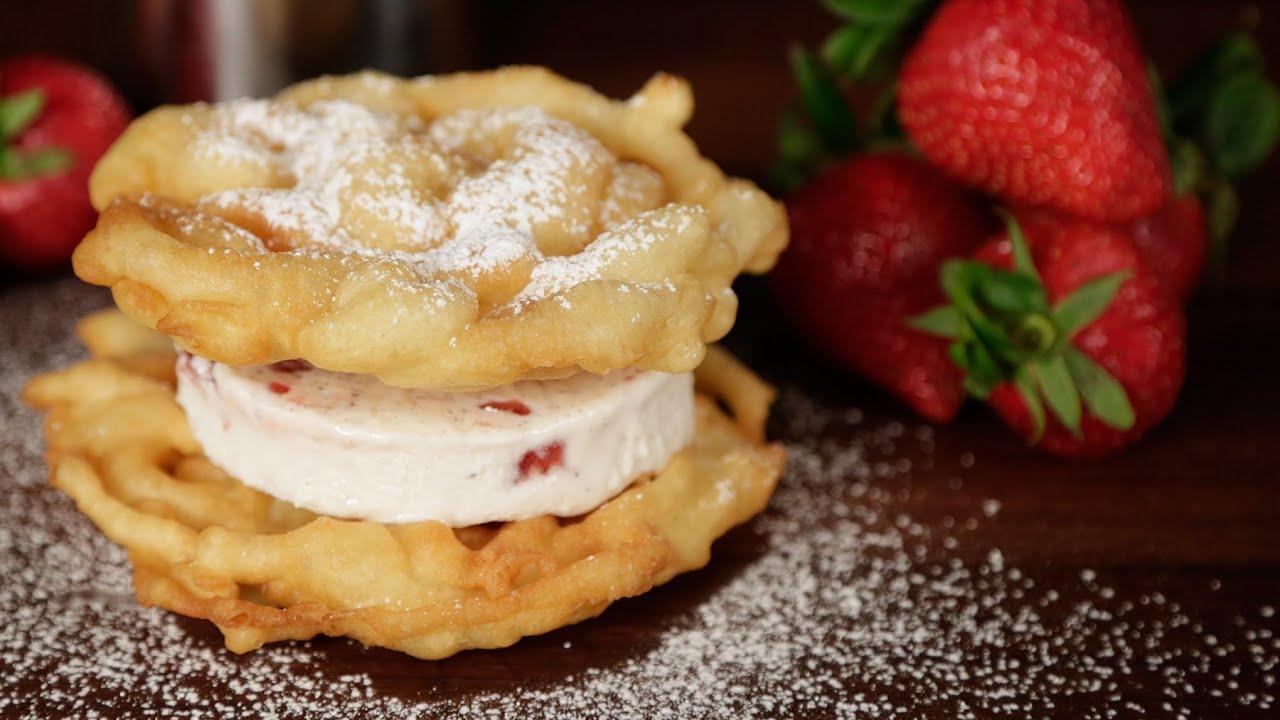 Funnel Cake Ice Cream Sandwich Atlanta