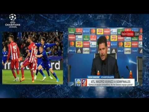 POSTPARTIDO / Cholo Simeone / Leicester 1 vs Atl. de Madrid 1 / Uefa Champions League 2017