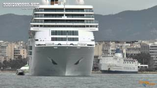 COSTA NeoROMANTICA - Departure from the port of piraeus DATE 25/1/2014
