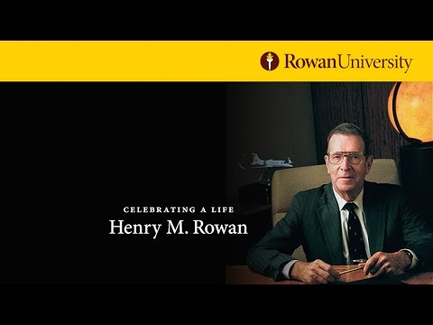 Celebration of Life Memorial Service for Henry M. Rowan - Ca