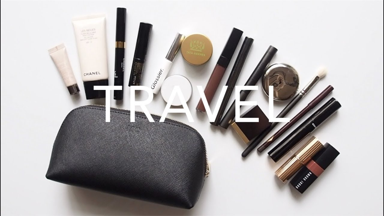 Travel Makeup Bag  Minimal Packing for Months Overseas