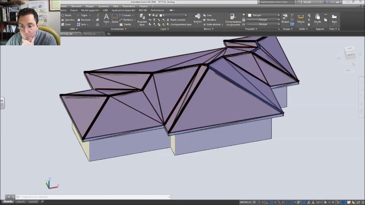 Copertura In Legno Dwg : Disegno di un tetto a padiglione: esercizio n°1 youtube