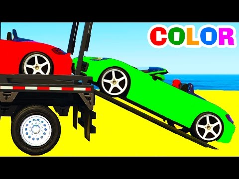 Thumbnail: Learn Color Car Transportation w Spiderman Cars Cartoon for Children Colors for Kids Nursery Rhymes