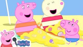 Peppa Pig Official | Mummy Pig Becomes a Mermaid - The Beach Song | More Nursery Rhymes \u0026 Kids Songs