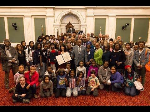 Councilwoman Gym Commemorates the 1967 Citywide Black Student Walkout 11-16-2017