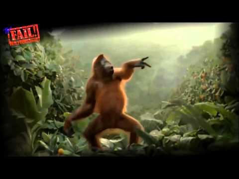 Весёлая ,танцующая обезьяна .