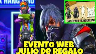 COMO FUNCIONA EVENTO WEB JULIO de REGALO* FREE FIRE 2020