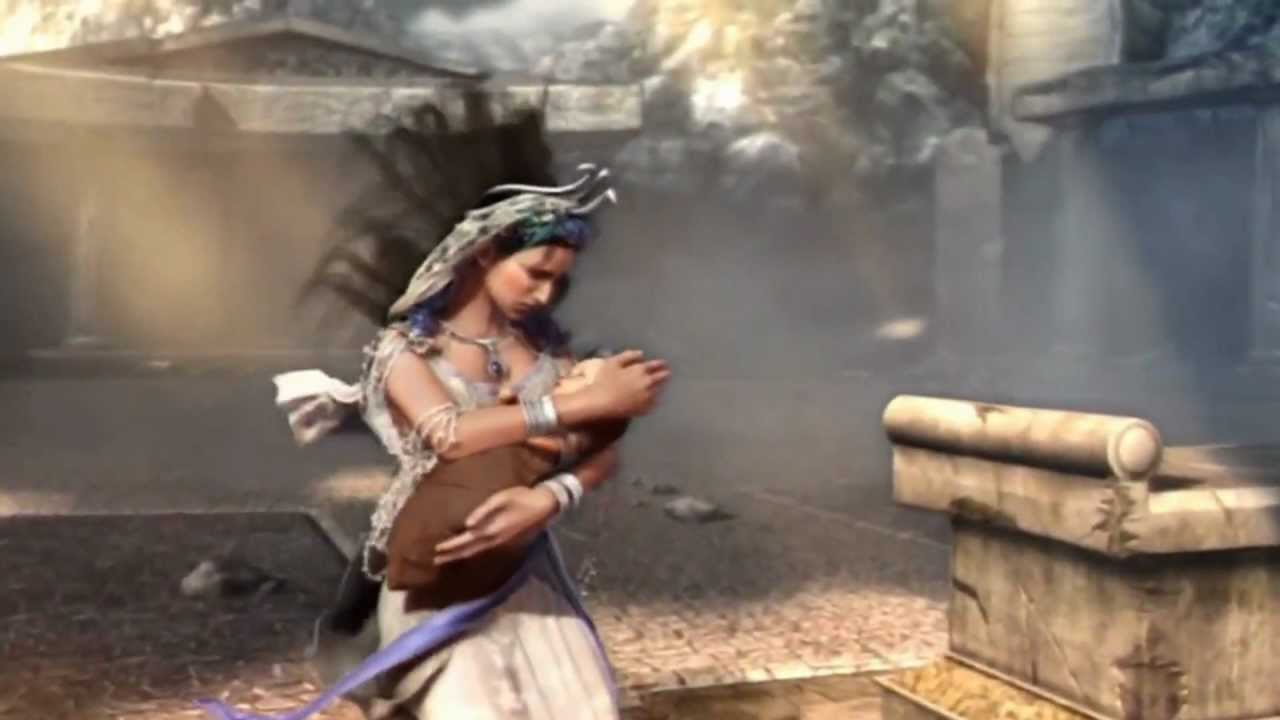 god of war 2 cronos rhea hd youtube