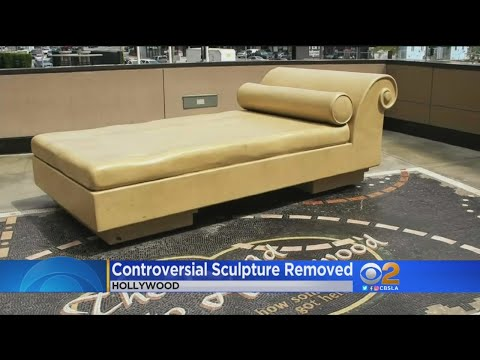 Hollywood 'Casting Couch' Sculpture Covered In Light Of Weinstein Sexual Abuse Scandal