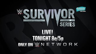 Watch WWE Survivor Series 2015 tonight on the award-winning WWE Network