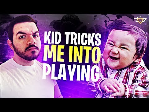 KIDS TRICK ME INTO PLAYING!? (Fortnite: Battle Royale)