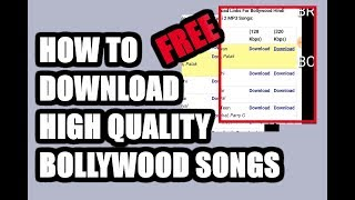 HOW TO DOWNLOAD MP3 SONG IN HIGH QUALITY FREE