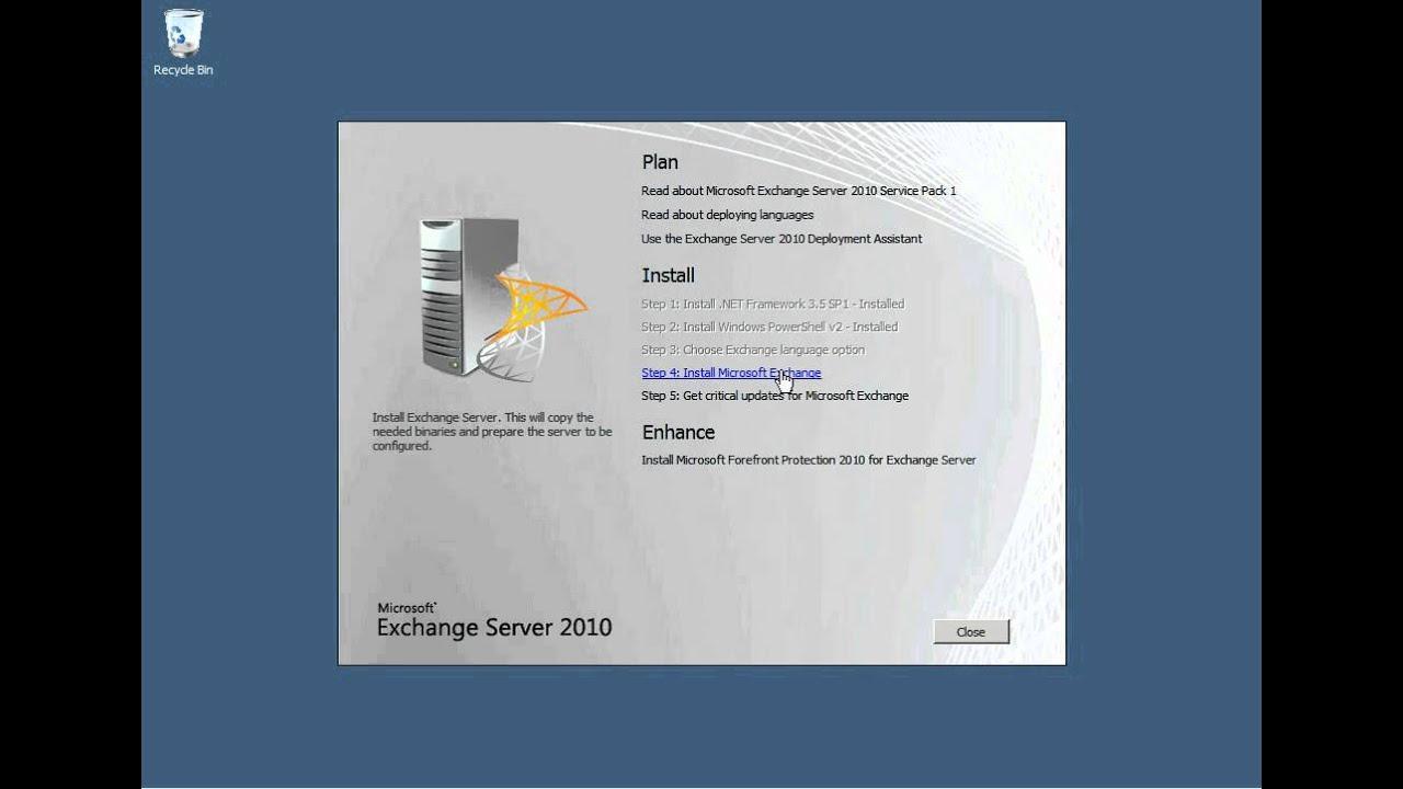 Install Exchange 2010 Hybrid Server for Office 365 - YouTube