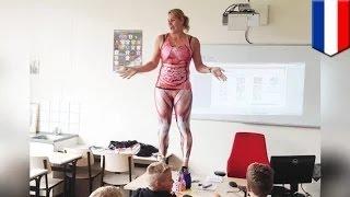 مدرسة علم أحياء هولاندية تخلع ثيابها في سبيل العلم