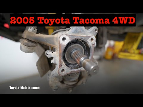 How to replace front wheel bearing on 2005 Toyota Tacoma 4WD