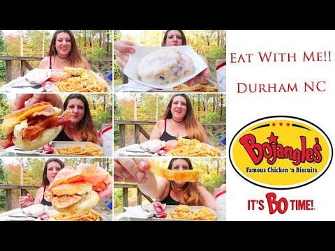 Bojangles Chicken Biscuit | Eat With Me | MUKBANG (Eating Show) | It's Bo Time!!