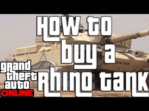 GTA 5 Online How to Buy a Tank GTA Online Rhino Tank