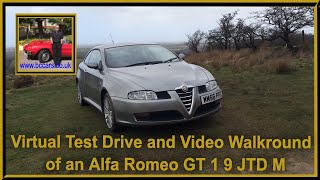 virtual test drive and video walkround of an alfa romeo gt 1 9 jtd m
