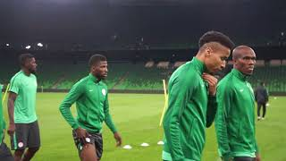 Super Eagles 2nd Training Session Ahead Of The Friendly Match Against Argentina.  13/11/2017