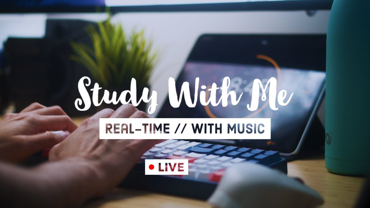 Download Real-Time Study With Me - 3.5 Hours With Music