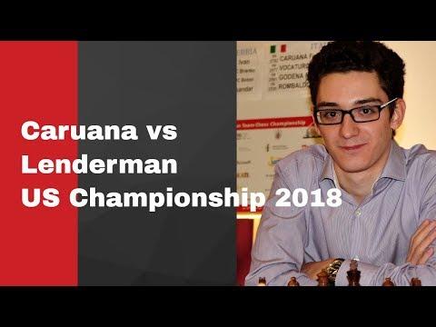 Fabiano Caruana vs Aleksandr Lenderman: US Championship 2018