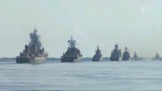 В Санкт-Петербурге собрались основные участники парада в честь Дня Военно-морского флота.