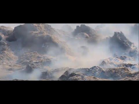 Тонны шелухи подсолнечника продолжают гореть в Балаковском районе