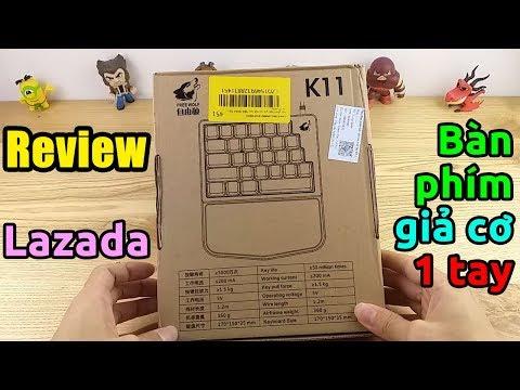 Mở hộp bàn phím giả cơ một tay bắn PUBG Mobile Auto Top 1 | Free Wolf K11