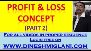 Profit & Loss Concept Part 2 by Dinesh Miglani