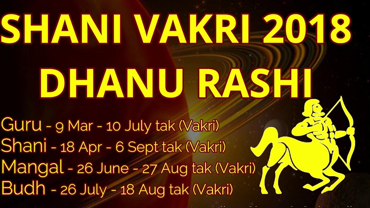 Shani gochar 2018 Dhanu Rashi#Shani Vakri 2018#Shani Vakri effects  2018#Shani effects on Sagittarius