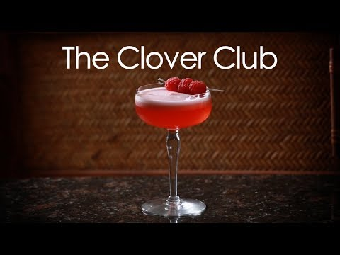 How To Make The Clover Club Classic Cocktail | Drinks Made Easy