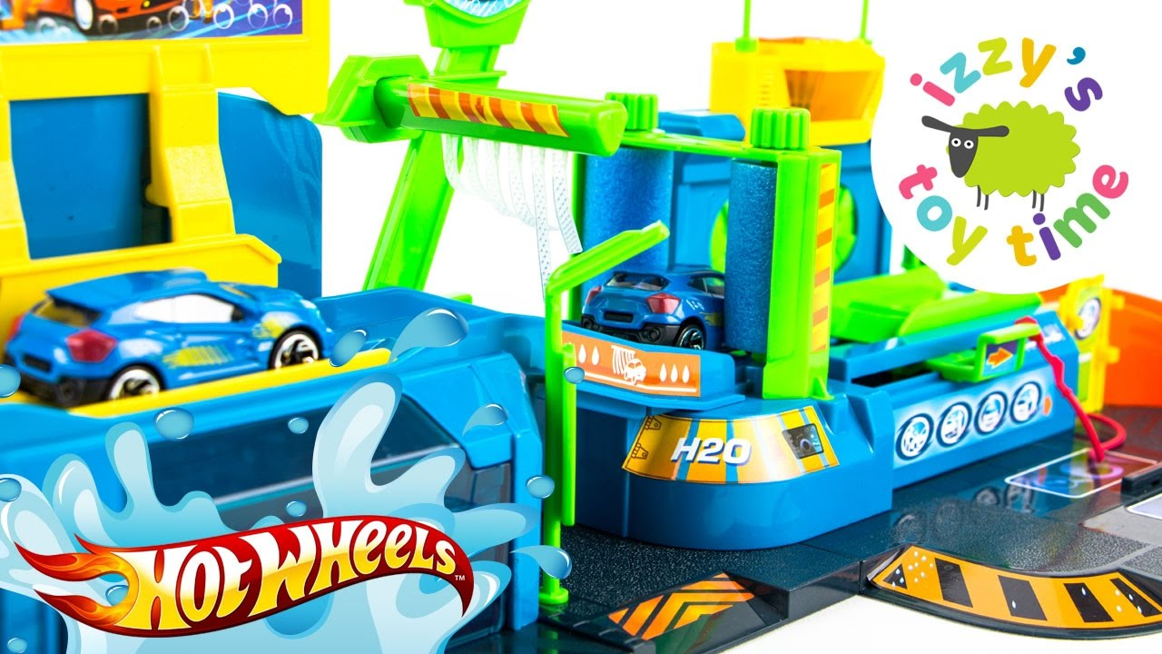 Cars for Kids | Hot Wheels Fast Lane Color Change Car Wash Playset ...