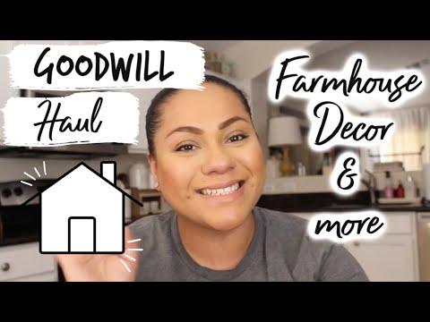Goodwill Haul| Farmhouse Decor & more