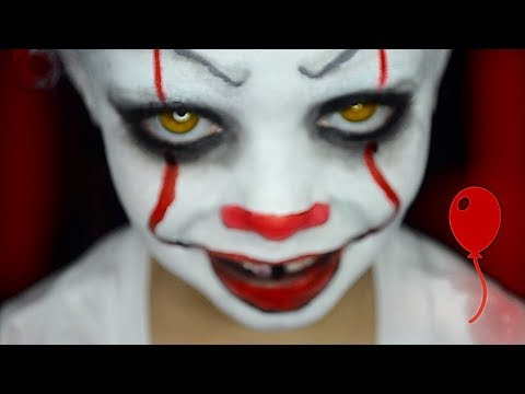 Kids Pennywise makeup tutorial (2017)