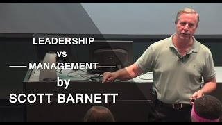 "Gambar cover ""Leadership vs. Management - They're Not The Same"" by Scott Barnett"