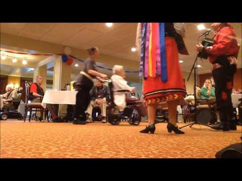 Cincinnati Ohio.  Russian balalaika duo concert in adult care