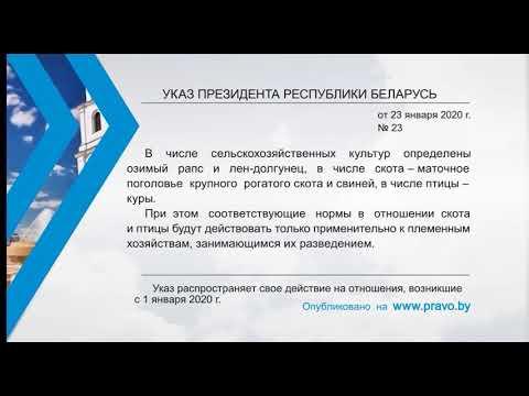 «Компетентно о праве»: Указ Президента Республики Беларусь от 23 января 2020 г. № 23