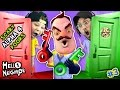HELLO NEIGHBOR NIGHTMARE DOORS OF DEATH! ALPHA 4 DOUBLE JUMP Mini Game W/ Red & Green Key FGTEEV 3