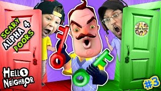 HELLO NEIGHBOR NIGHTMARE DOORS OF DEATH! ALPHA 4 DOUBLE JUMP Mini Game w/ Red & Green Key FGTEEV #3 thumbnail