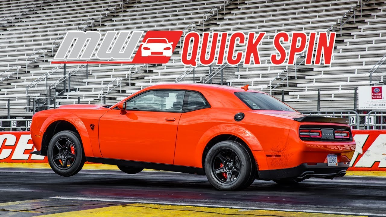 2018 Dodge Demon 2017 Durango Srt Quick Spin